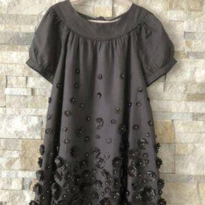 Stella McCartney Gap Kids Gray Flower Silk Dress